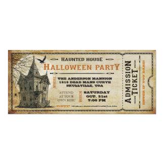 Billet I de partie de Halloween hanté par cru de Carton D'invitation 10,16 Cm X 23,49 Cm