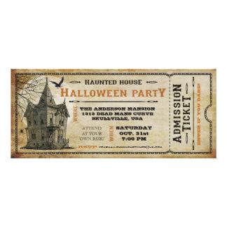 Billet I de partie de Halloween hanté par cru de Invitations