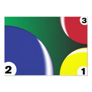 "Billiard Background 5"" X 7"" Invitation Card"