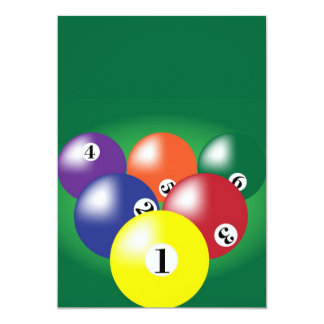 Billiard Background Card