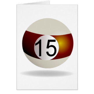 Billiard ball 15 card