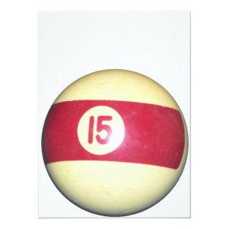 Billiard Ball #15 Card