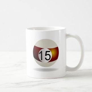 Billiard ball 15 coffee mug