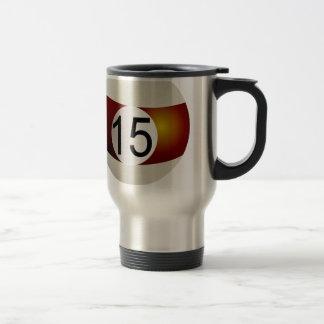 Billiard ball 15 travel mug