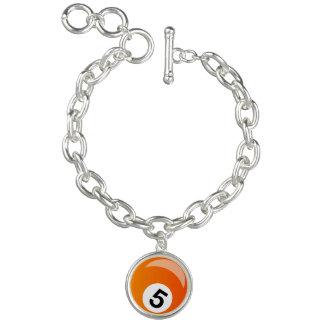 Billiard ball bracelet