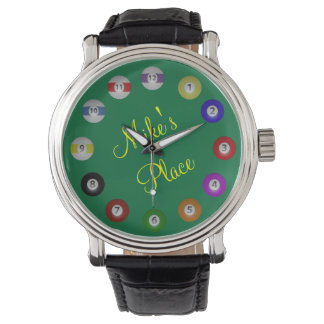 Billiard Ball Numbered with Name Watches