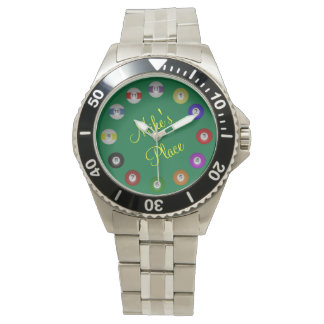 Billiard Ball Numbered Wristwatches
