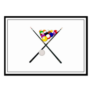 Billiard Balls and Pool Cues Large Business Card
