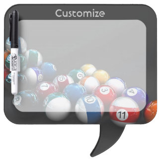 Billiard Balls Pool Theme Dry Eraser Board