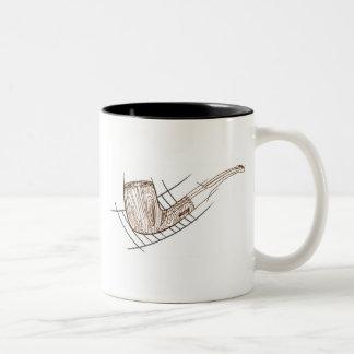 Billiard Bent 1 Two-Tone Coffee Mug