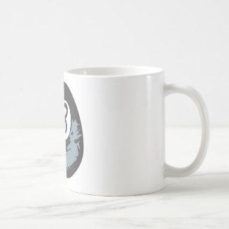 Billiard Eight Ball in Hand drawn Style Coffee Mug