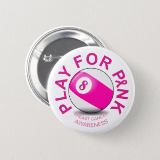 Billiard Game Play for Breast Cancer Awareness Pin