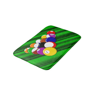 Billiard hall bath mat
