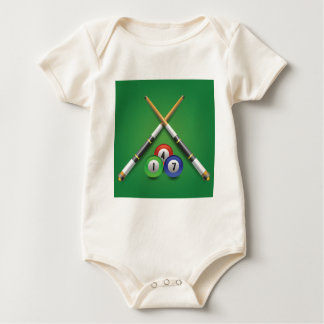 billiard label baby bodysuit