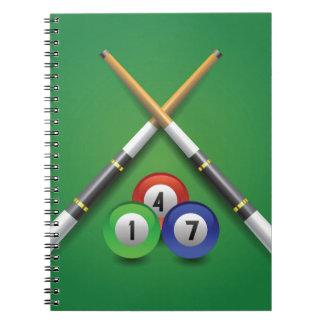 billiard label notebook