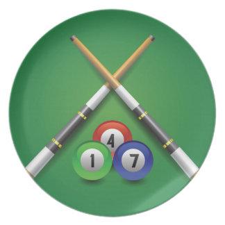 billiard label plate