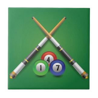 billiard label tile