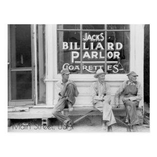 Billiard Parlour On Main Street Postcard