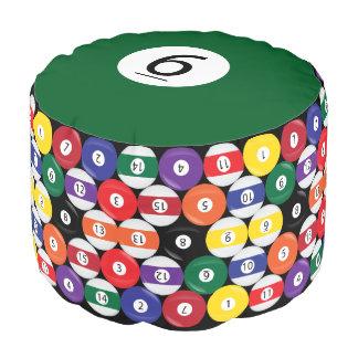 Billiard Pool Ball #6 Collect all 15 Pouf