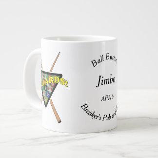 Billiard Rack and Sticks Team Player Large Coffee Mug
