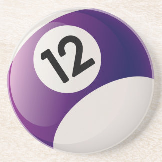 Billiards 12 Ball Coaster