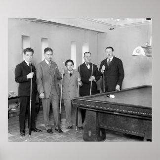 Billiards: 1927 poster