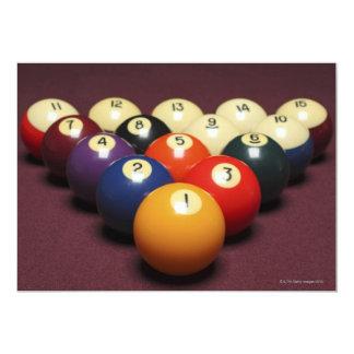 "Billiards 5"" X 7"" Invitation Card"