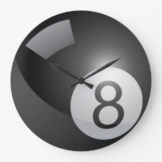 Billiards 8 Ball Large Clock