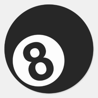 Billiards - 8-Ball Round Sticker