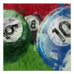 Billiards Abstract Posters