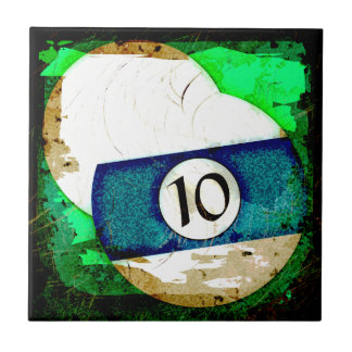 BILLIARDS BALL NUMBER 10 CERAMIC TILE