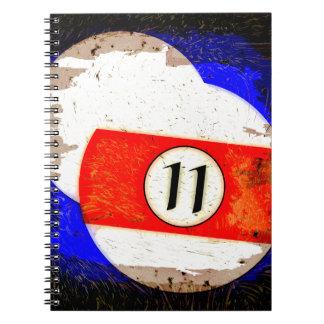 BILLIARDS BALL NUMBER 11 NOTEBOOKS