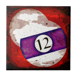BILLIARDS BALL NUMBER 12 TILE