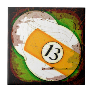 BILLIARDS BALL NUMBER 13 CERAMIC TILE