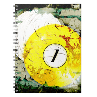 BILLIARDS BALL NUMBER 1 NOTE BOOKS