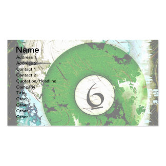 BILLIARDS BALL NUMBER 6 BUSINESS CARD