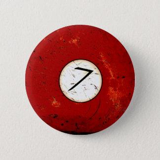 BILLIARDS BALL NUMBER 7 2 INCH ROUND BUTTON