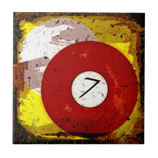 BILLIARDS BALL NUMBER 7 CERAMIC TILE