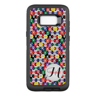 Billiards Ball Pattern - Monogram OtterBox Defender Samsung Galaxy S8+ Case