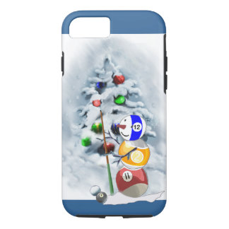 Billiards Ball Snowman Christmas iPhone 7 Case