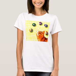 Billiards Cat T-Shirt