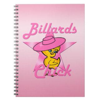 Billiards Chick #8 Spiral Note Books