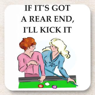 billiards coaster