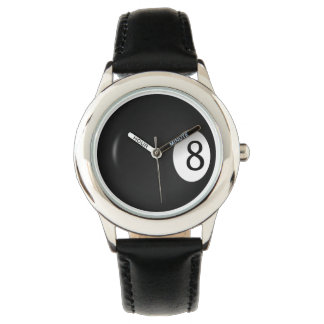Billiards Eight Ball  Sports Wrist Watch