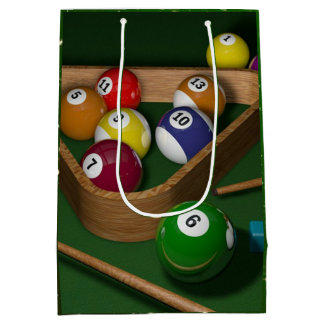 Billiards game medium gift bag