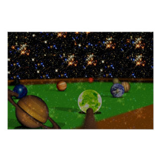 Billiards in Space Poster