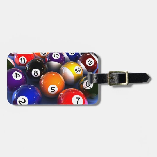 Billiards Luggage Tag