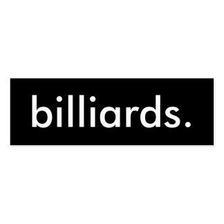 billiards. mini business card