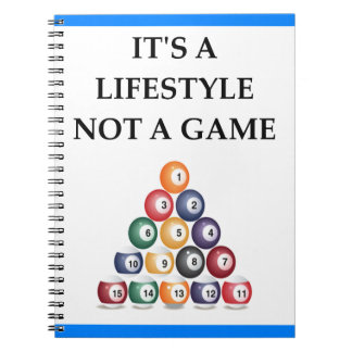 billiards notebook