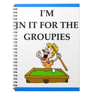 billiards notebooks